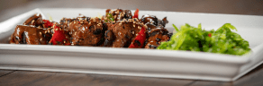 Grilled Kimchee Beef Tenderloin tips