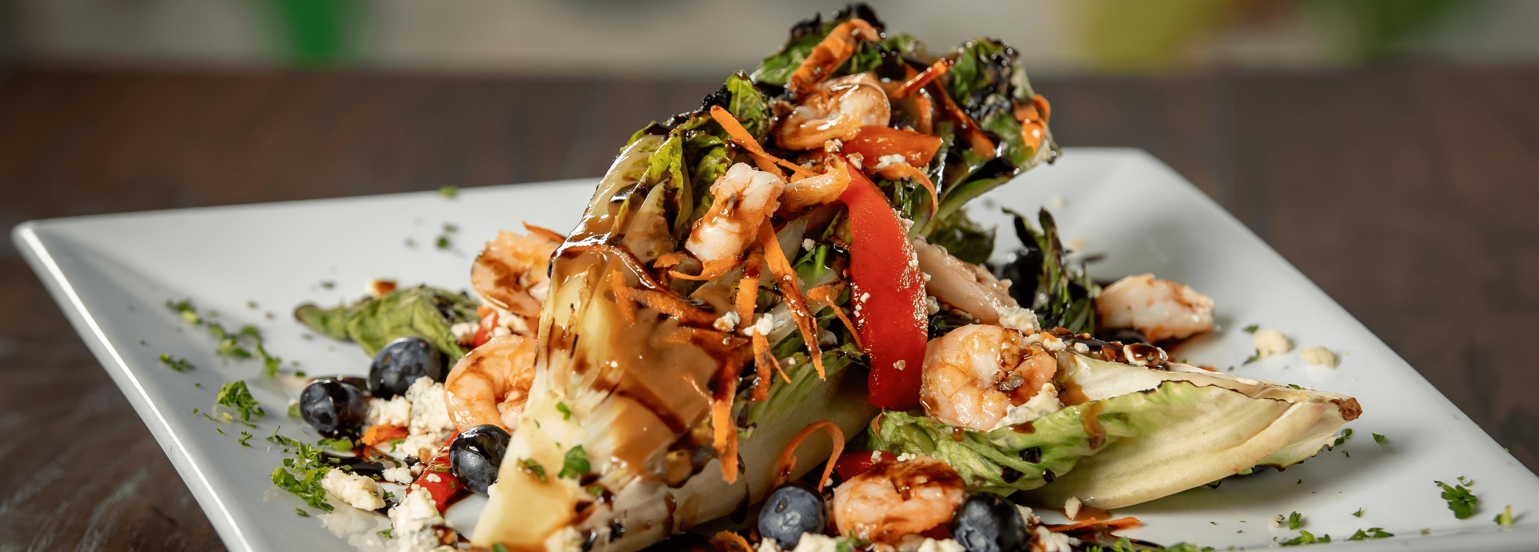 Grilled Romaine Shrimp Salad