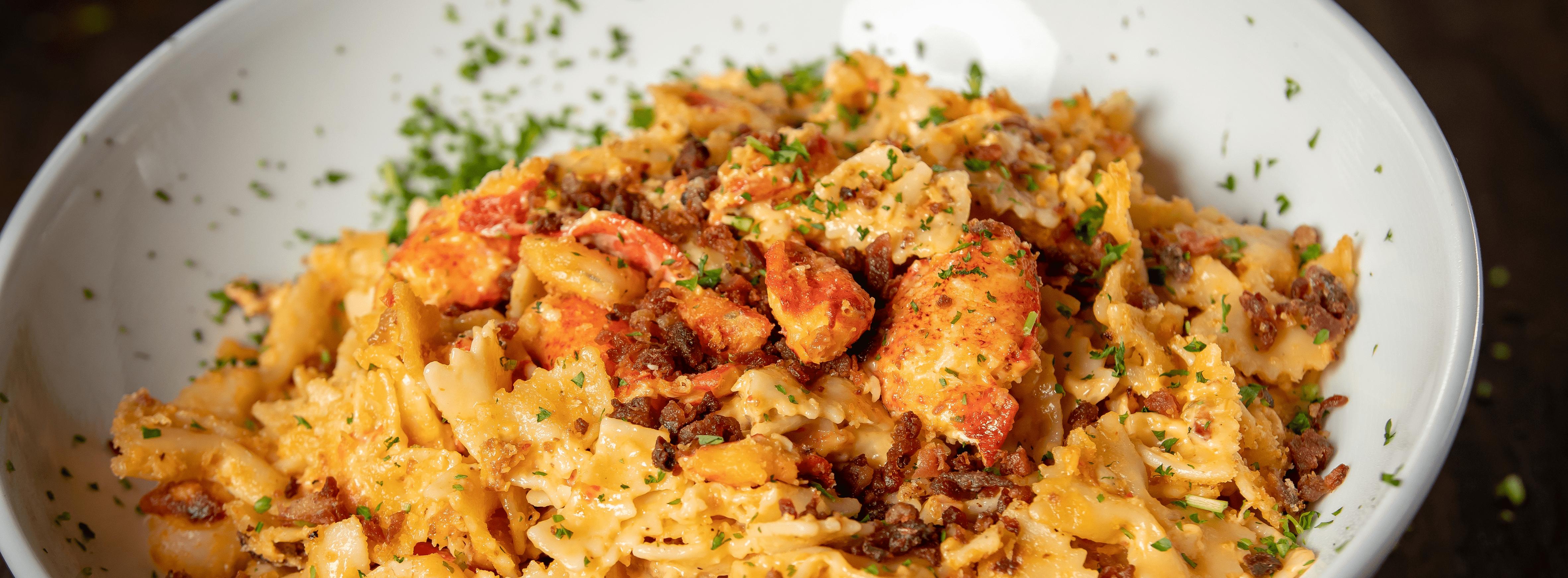 Seafood Bacon Mac-n-Cheese