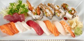 Sashimi sushi selection